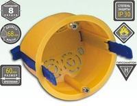 Коробка установочная с пластиковыми ремешками KSC 11-106 под г/к 68*50