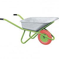 Тачка садово-строительная с PU колесом, грузоподъемность 180 кг, объем 90 л. СИБРТЕХ