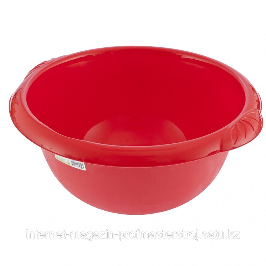 Таз пластмассовый круглый 9 л, красный, TM ELFE Россия