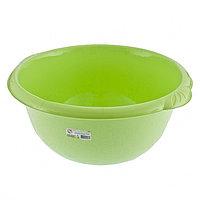 Таз пластмассовый круглый 16 л, зеленый, TM ELFE Россия, фото 1