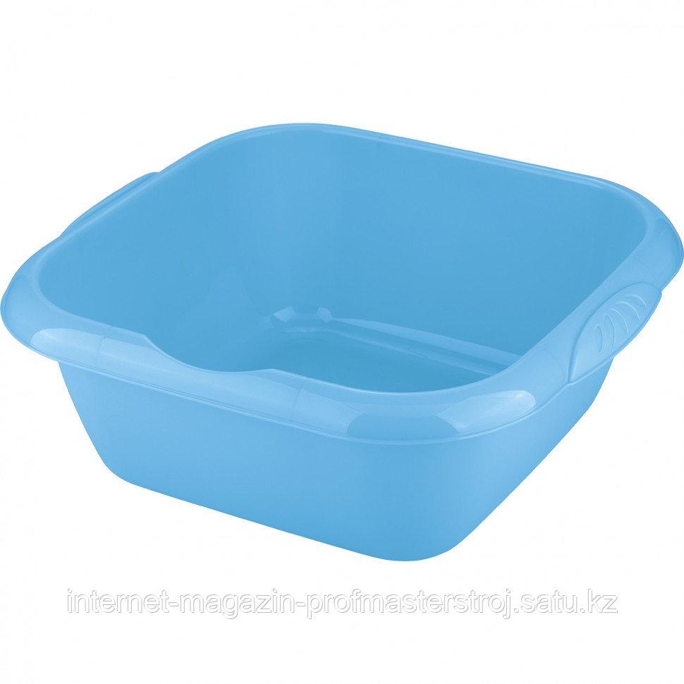 Таз пластмассовый квадратный 12 л, голубой, TM ELFE Россия