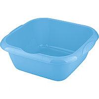 Таз пластмассовый квадратный 12 л, голубой, TM ELFE Россия, фото 1