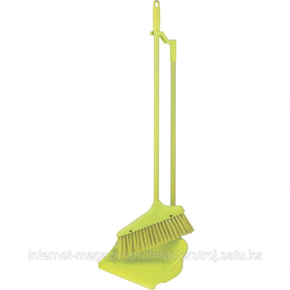"""Набор для уборки """"Ленивка"""" совок и щетка, зеленый, ELFE Light"""