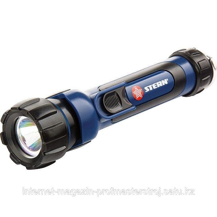 Фонарик светодиодный, противоударный, влагозащищенный, 1 яркий LED, 2xAA, STERN
