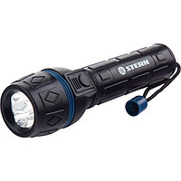 Фонарик светодиодный, ударопрочный корпус, влагозащищенный, 3 ярких светодиода, 2xAA, STERN
