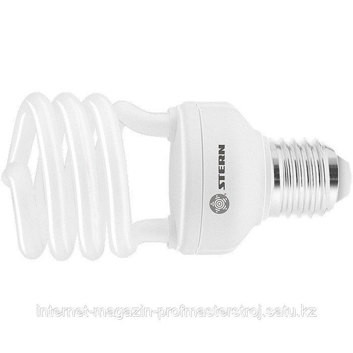 Лампа компактная люминесцентная, полуспиральная, 20W, 2700 К, E27, 8000 ч., STERN