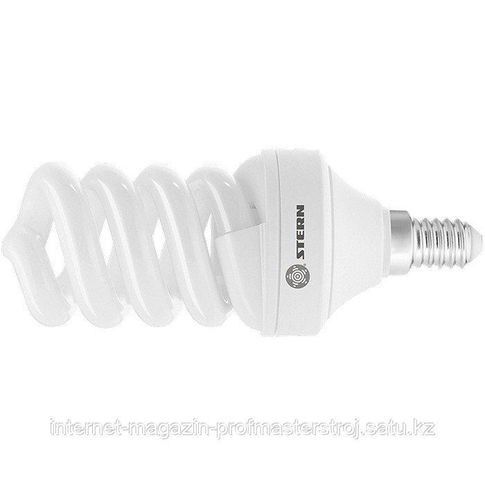 Лампа компактная люминесцентная, спиральная, 9W, 2700 К, E14, 8000 ч., STERN