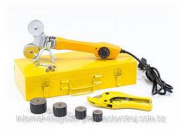 Аппарат для сварки пластиковых труб DWP-750, 750 Вт, 0-300 град., 4 насадок, 20-40 мм, DENZEL