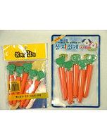 Зажимы для пакетов морковка