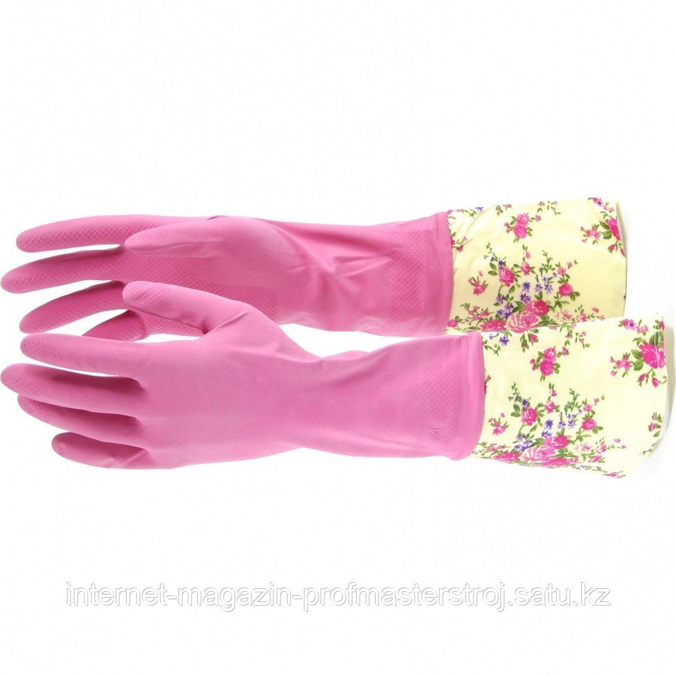 Перчатки хозяйственные, латексные с манжетой, S. Elfe