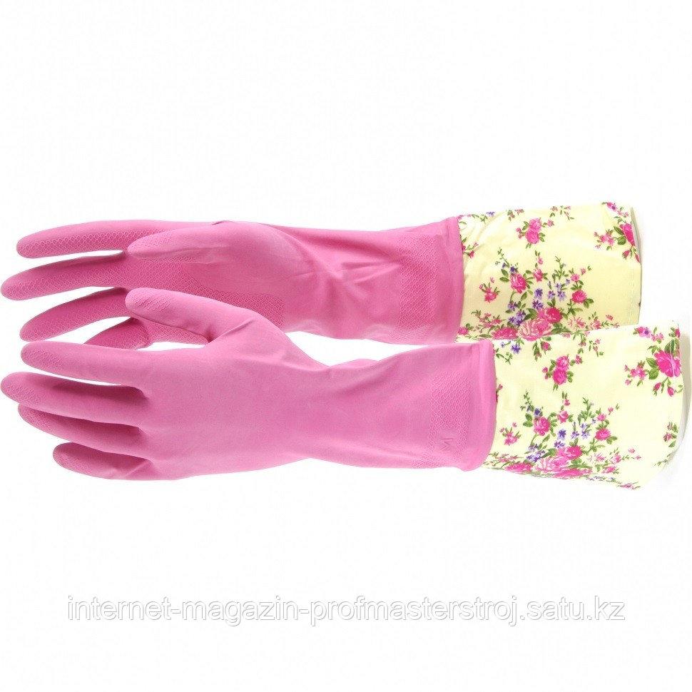 Перчатки хозяйственные, латексные с манжетой, M. Elfe