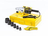 Аппарат для сварки пластиковых труб DWP-1500, 1500 Вт, 260-300 градусов, комплект насадок, 20-63 мм, DENZEL