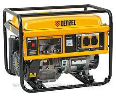 Генератор бензиновый GE 4500, 4.5 кВт, 220В/50Гц, 25 л, ручной старт, DENZEL
