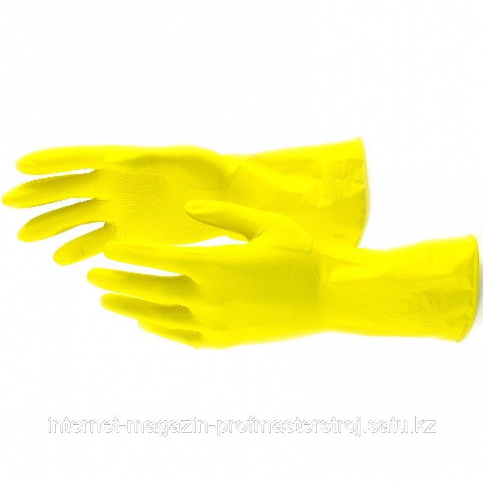 Перчатки хозяйственные, латексные, M. СИБРТЕХ