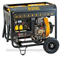 Дизельная сварочная генераторная установка DW180E, 4.5 кВт, 220В/50Гц, 12.5 л, электростарт, DENZEL