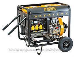 Генератор дизельный DD5800, 5 кВт, 220В/50Гц, 12.5 л, электростартер, DENZEL