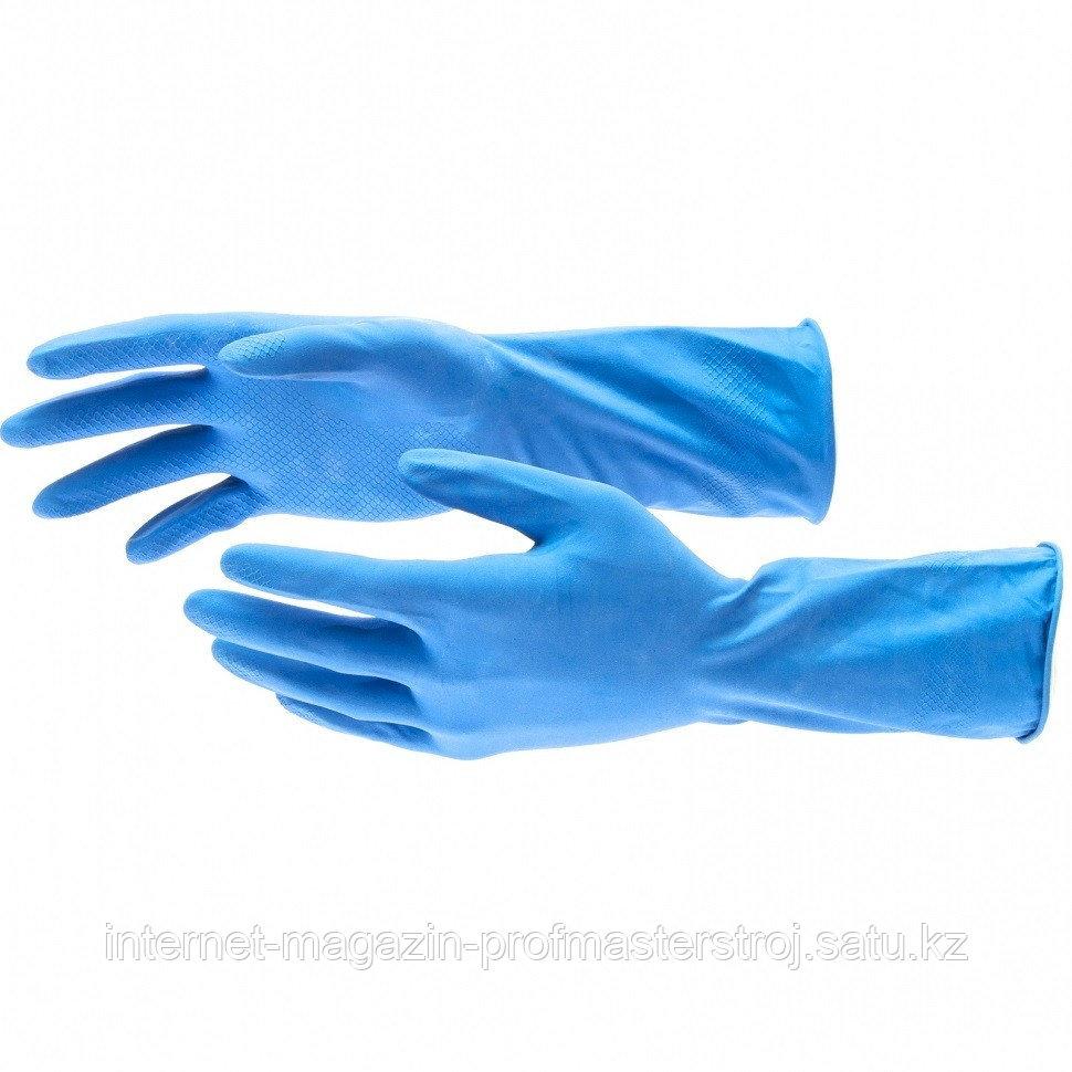 Перчатки хозяйственные, латексные c хлопковым напылением, S. Elfe