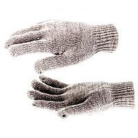 Перчатки трикотажные, акрил, двойные, коричневый, двойная манжета, Россия. СИБРТЕХ