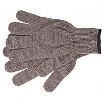 Перчатки трикотажные, акрил, коричневый, оверлок, Россия. СИБРТЕХ