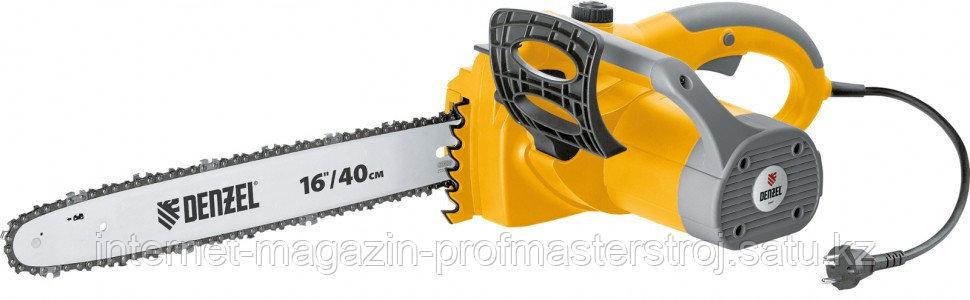 """Пила цепная электрическая ELS-2000 с поперечным двигателем, 16"""" (40 см), 13.5 м/с, DENZEL"""