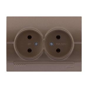 Розетка двойная скрытой установки Deriy 702-3131-128
