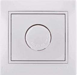 Диммер 1000W L6 c/у белый Mira 701-0202-157