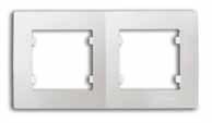 Рамка 2-местная белая М76 LILLIUM KARE 32001702