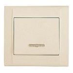 Выключатель 1-клавишный с индикатором М26 с/у кремовый DEFNE 42010021