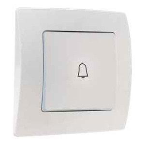 Кнопка звонка М35 с/у кремовая DEFNE 42010050