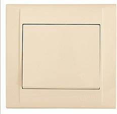 Выключатель 1-клавишный М24 с/у кремовый DEFNE 42010001