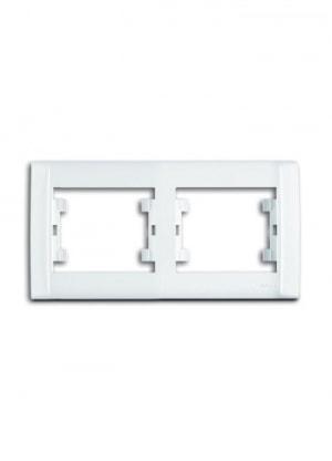 Рамка 2-местная белая М19 DEFNE 42001702