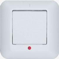 """Выключатель 1-клавишный с индикатором с/у 6А IP20""""Прима"""" ВС 16-053-б S233"""