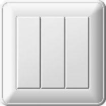 """Выключатель 3-клавишный S178 с/у 16А """"Wessen 59"""" ВС 0516-351-18"""