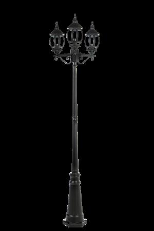 Садовый светильник RETRO 100W НТУ ДЕКОР 3-хрожковый на опоре 3м 4083