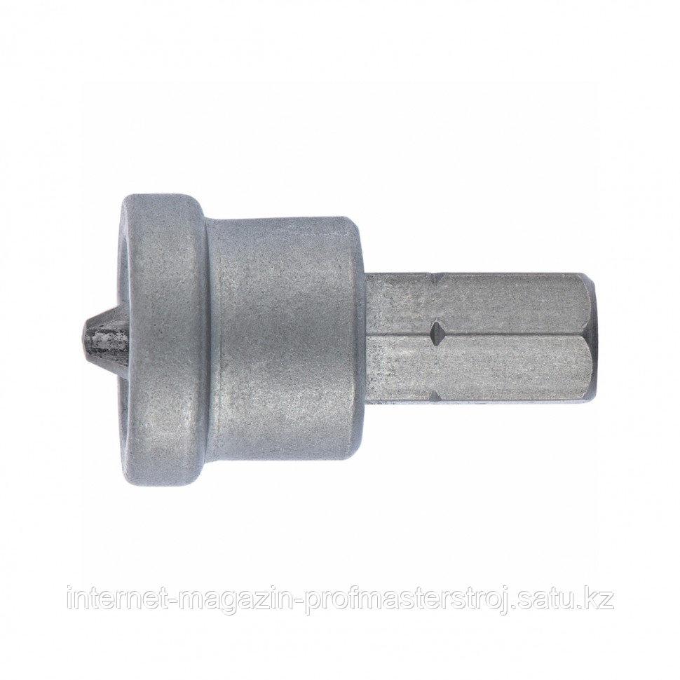 Бита PH2 x 50 мм с ограничителем для ГКЛ, 2 шт, CrMo, СИБРТЕХ