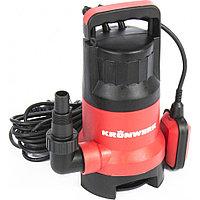 Дренажный насос для грязной воды KP800, 800 Вт, подъем 8 м, 13000 л/ч, KRONWERK