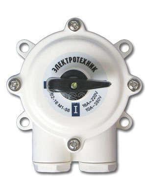 Пакетный выключатель ПВ3 (16А) в пластиковом корпусе IP56 220/380