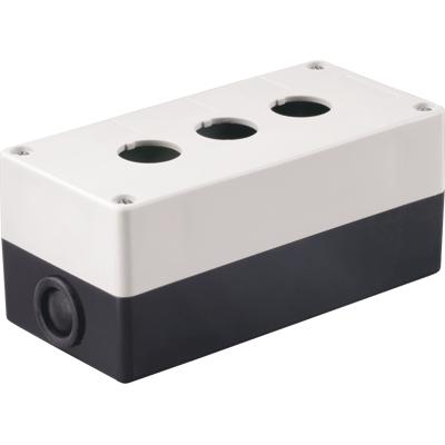 Пост (пульт) кнопочный (корпус) КП-103 3-местный белый