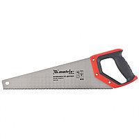 Ножовка по дереву, 400 мм, зуб 2D, каленый крупный зуб 3-4 TPI, двухкомпонентная рукоятка, MATRIX Master, фото 1