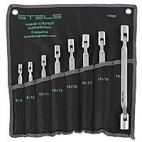 Набор ключей шарнирных, CrV, 8 штук, 12-ти гранный профиль, STELS
