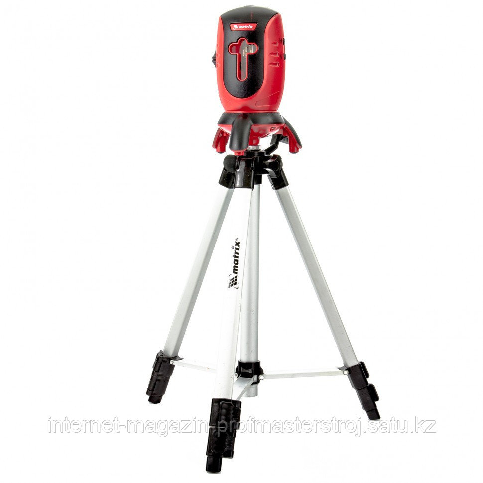 Лазерный уровень ML01T, 10 метров ±0,5 мм/1 м, 650 нм, 1 верт. 1 гор. плоскость, штатив в комплекте, MATRIX