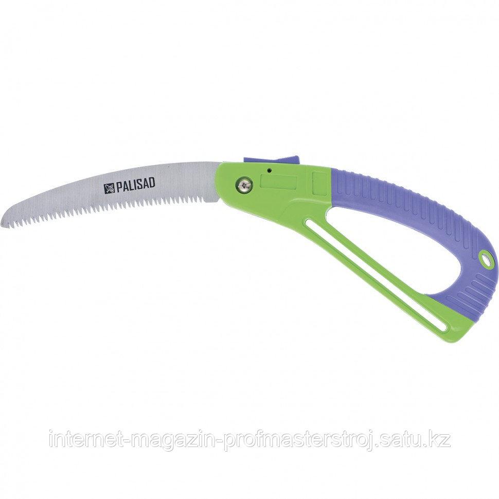Пила садовая складная, 175 мм, зуб 3D, обрезиненная рукоятка с защитной кулисой, PALISAD