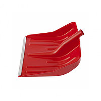 Лопата снеговая красная, 400 x 420 мм, без черенка, пластмассовая, алюминиевая окантовка, СИБРТЕХ Россия