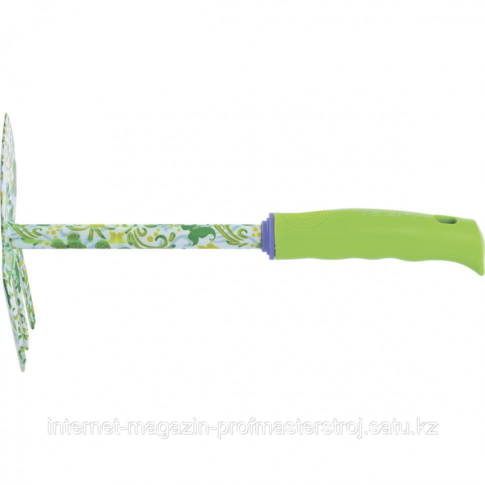 """Мотыжка комбинированная """"лепесток и 3 зуба"""", пластиковая рукоятка, PALISAD"""
