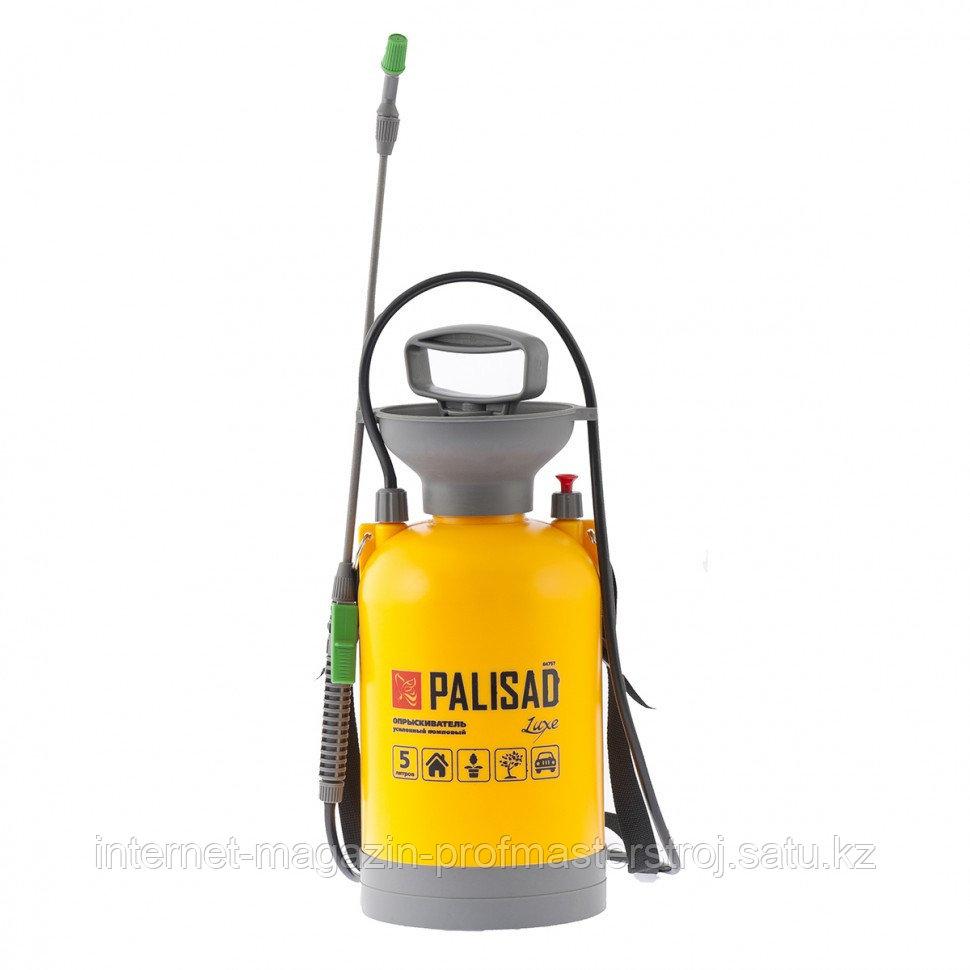 Опрыскиватель усиленный помповый 5 литров, со шлангом и разбрызгивателем, PALISAD Luxe