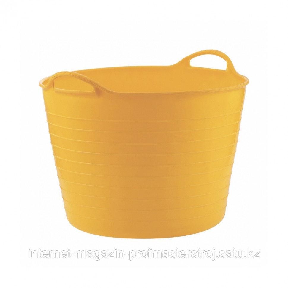 Ведро гибкое сверхпрочное 40 л, желтое, СИБРТЕХ