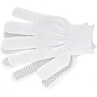 Перчатки нейлон, ПВХ Точка, 13 класс, белые, L, РОССИЯ