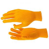 Перчатки нейлон, 13 класс, оранжевые, XL, РОССИЯ