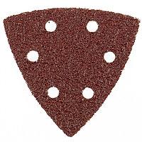 """Треугольник абразивный на ворсовой подложке под """"липучку"""" перфорированный, P 24, 93 мм, 5 шт, MATRIX"""
