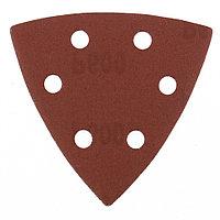 """Треугольник абразивный на ворсовой подложке под """"липучку"""" перфорированный, P 600, 93 мм, 5 шт, MATRIX"""